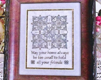 An Old Irish Blessing Blackwork and cross stitch pattern by TA Smith at thecottageneedle.com holidays St. Patrick's Day March Ireland