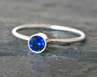 Stackable Birthstone Ring - Mothers Ring Birthstones - Mothers Ring Stackable - Sterling Silver Stacking Ring - Mothers Ring Sterling Silver