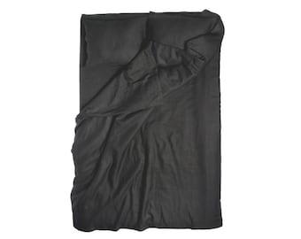 Duvet cover King Black linen bedding soft duvet and pillowcases by Lovely Home Idea
