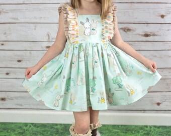 Precious Bunnies Dress size 6mos -8y