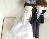 Wedding gift bride and groom dolls, Handmade custom dolls, Portrait cloth dolls, Wedding photo props, Personalized dolls