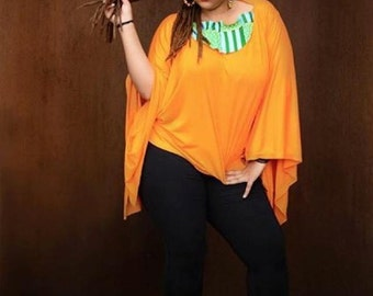 Orange Floater blouse