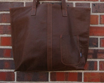Brown tote -tote bag-large tote bag-western-chic-rustic-bohemian-chic-ready to ship-upcycle d-cwinn designs-denver-western--purse