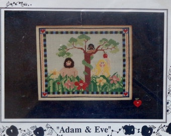 Mosey 'N Me ADAM And EVE By Frank & Judy Bielec - Counted Cross Stitch Pattern Chart