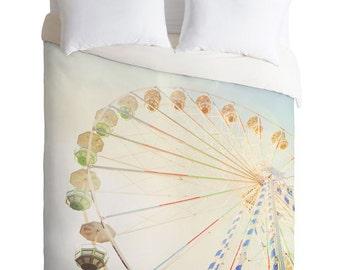Duvet Cover ~ Ferris Wheel, dreamy carnival duvet cover, kids bedroom decor, dorm bedding, unique birthday gift, Christmas gift idea bedroom