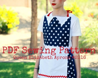 I love LUCY Retro Vintage inspired Costume APRON PDF Sewing Pattern. Girls sizes 9-12 Teens/ Women 0-12. Birthday Party Waitress Photo Prop