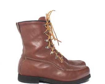 estimated size 8.5 | Men' Insulated Moc Toe Work Boots