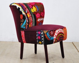 50's Clubchair - scarlet