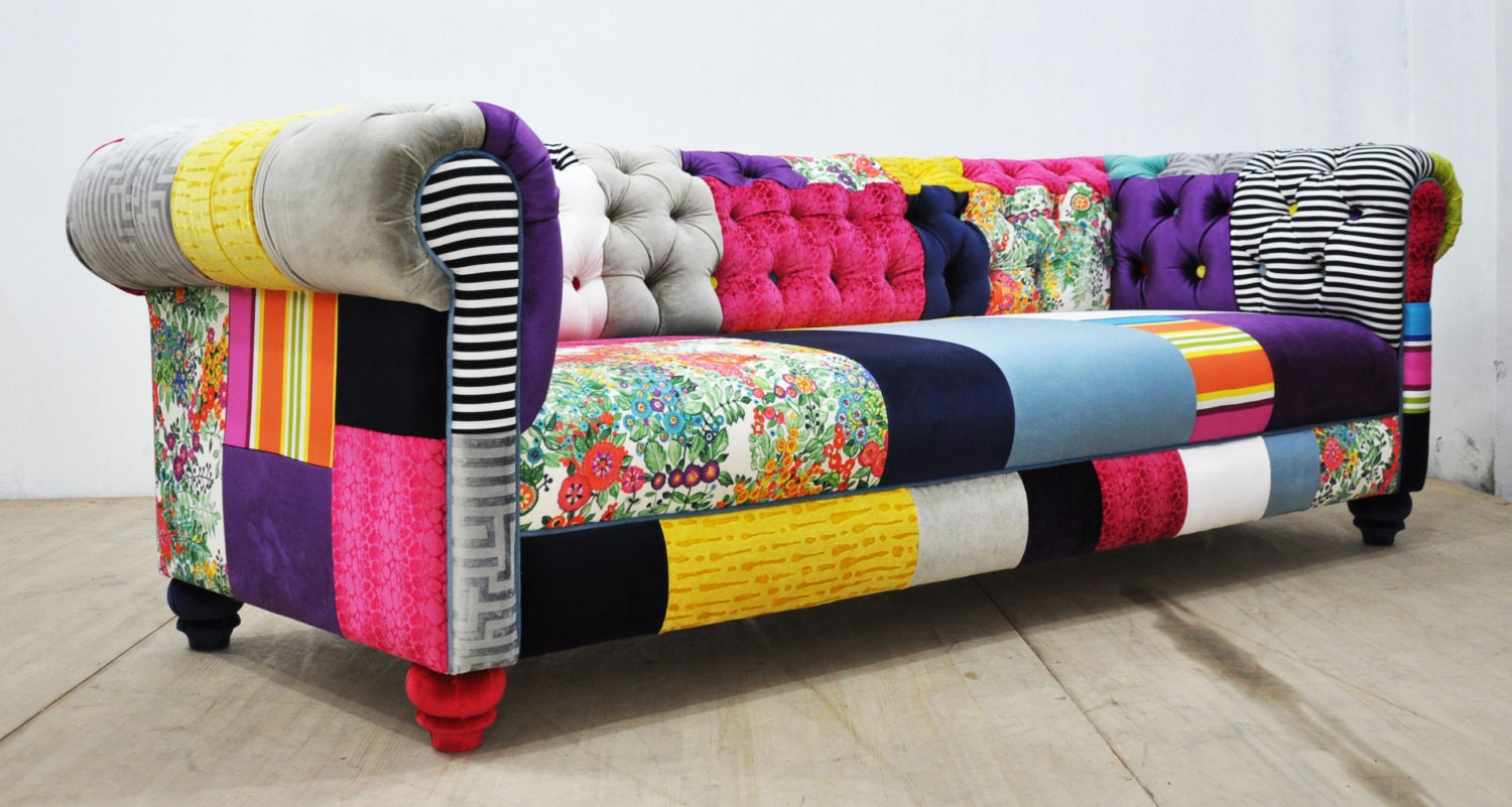 Chesterfield Patchwork Sofa Color Palette By Namedesignstudio