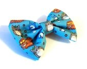 Totoro Hairbow - ghibli anime catbus pattern geeky hair accesory bow clip