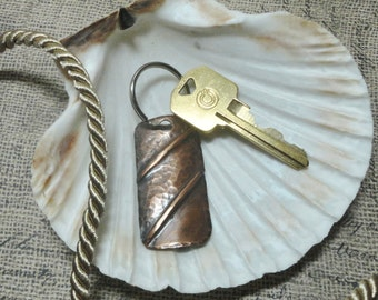 Fold Formed Copper Keychain