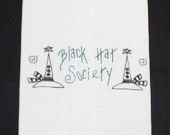 Black Hat Society Tea Towel:  Magick, KitchenWitch,  Towel, Housewarming
