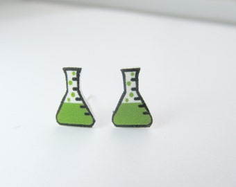 Chemistry Test Tube Stud Earrings Science, Teacher gifts