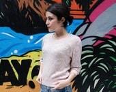 Vintage Pink Shiny Sweater