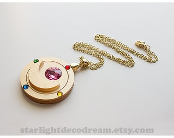 SALE Sailor Moon Transformation Brooch Inspired Acrylic Necklace for Mahou Kei & Magical Girl Fashion