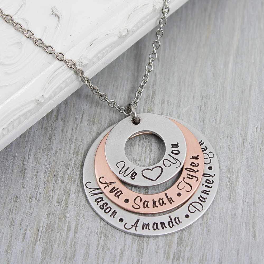 personalized mom jewelry grandmother necklace personalized. Black Bedroom Furniture Sets. Home Design Ideas