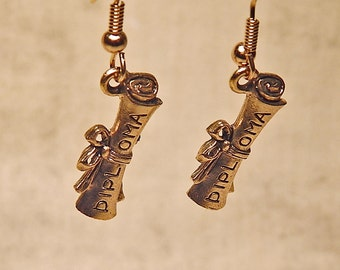 Gold Plated Diploma Earrings