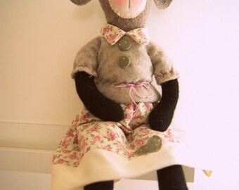 Pdf sewing pattern Soft Lamb, Softie Pattern, Whimsy Doll, Cloth Doll, Rag Doll, PDF sewing Pattern, stuffed animal pattern