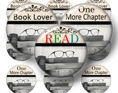 Books, Digital Collage Sheet, 1 Inch Circle, Bottle Cap Images, Books, Book Club, Sayings, Quotes, Old Books,  No.2, Pendant, Cabochons