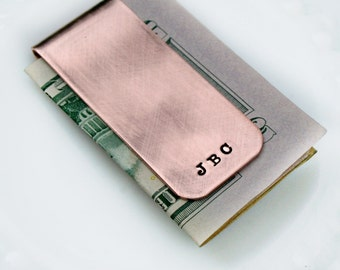 Best Fathers Day Gift - Personalized Money Clip - Money Clip Dad - Unique Gift - Seventh Anniversary Gift - 7 Year Anniversary - 7th Copper