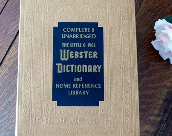 1962-63 Webster Little & Ives Unabridged Dictionary and Home Reference, Large 1962 Webster Dictionary