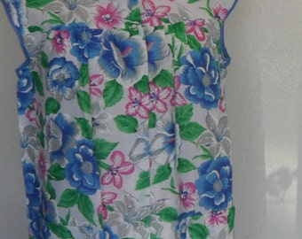 Vintage Robe House Coat House Dress Floral Large by Silin Mfg Co.  NOS