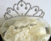 Rhinestone Tiara, Weiss Tiara with Container, Hair comb Style, Bridal Wedding Veil, Prom Queen Crown, Hair Accessories