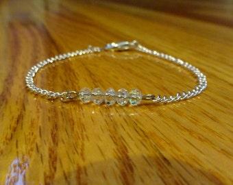 Glass  Beads & Rose Gold Bracelet
