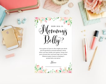 Instant Download - Spring Shower Mommy's Belly Cards