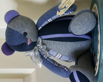 Handmade in loving memory of Dad... OOAK custom memory teddy bear made from something special. Custom order.