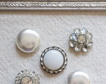 Pure-Push pins, decorative thumb tacks, vintage jewelry push pins, thumb tacks, push pins, thumb tack set by My Sweet Maison.