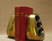 Ben Seibel mid century bookends cast brass Jenfred ladder design 1950s Brutalist Industrial Streamline Modernist