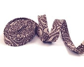 Brown Lace Bias Tape Double Fold- Half Inch