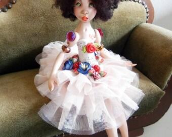 Ooak Art Doll  -Annabella ,the creole little girl.Handmade