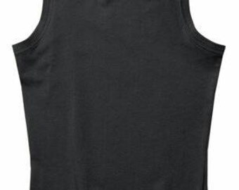 BLACK or LIME High Neck Casual Tank / 29.00 / FREE Usa Ship 3 days / Great for Yoga Top too /  Cotton Tank / Womens Top / Navy Gray or Denim