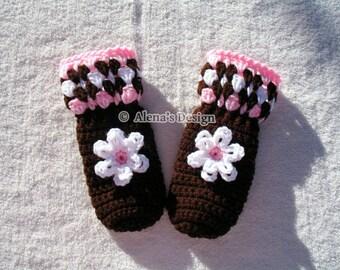 Crochet Pattern 035 - Crochet Mitten Pattern for Children's Mittens - Mittens Patterns - Crochet Glove Pattern Toddler Kids Teens Mittens
