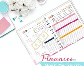 Finances. More Organized. - Monthly Budget (Simple & Detailed), Cash Flow, Savings Goal, Debt Payoff and Auto Pay Tracker Digital File