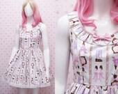 READY STOCK Turquoise Lolita Dress Paris Chocolate Kawaii - Sweet Lolita Dress - Tea Party Dress