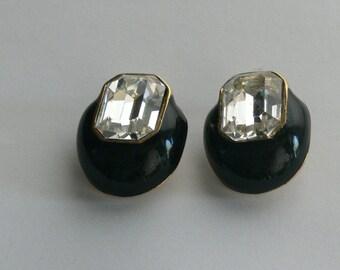 ciner clip rhinestone earrings