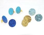 Glitter Wedding Cufflinks - Glitter Cufflinks - Mens Cufflinks - Blue Cufflinks - Turquoise Cufflinks - Groomsmens Gift - Wedding Keepsake