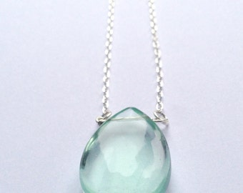 Sterling silver fluorite pendant necklace