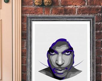 Prince art print - When Doves cry - Purple Rain art.