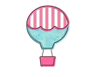 Hot Air Balloon 2 Applique Machine Embroidery Design-INSTANT DOWNLOAD