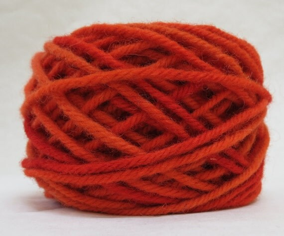 POPPY, 100% Wool, 2 oz. 43 yards, 4-Ply, Bulky weight or 3-ply Worsted weight yarn, already wound into cakes, ready to use, made to order.