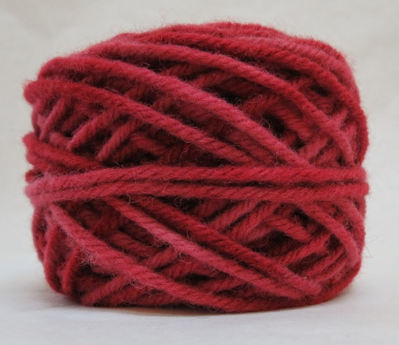 GARNET, 100% Wool, 2 ozs. 43 yards 4-Ply Bulky weight or 3-ply Worsted weight yarn, already wound into cakes, ready to use, made to order.