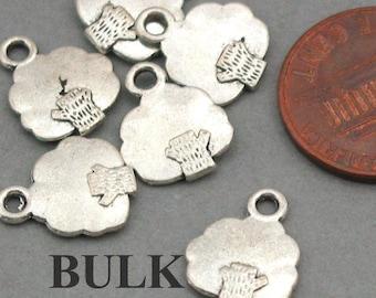 Tree Charms BULK order Antique Silver 60pcs pendant beads 10X13mm CM0017S