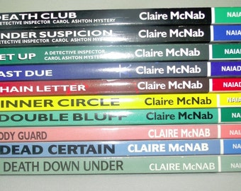 Claire McNab lot of 10 books Carol Ashton/mystery/Naiad Press/Lesbian/novels/pb