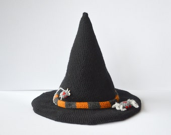 Witch Hat Crochet Pattern, Halloween Hat Crochet Pattern, Halloween Crochet Pattern, Wicked Hat Crochet Pattern, Seasonal Crochet