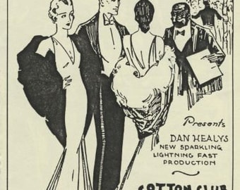 Famous Cotton Club Ad print from New York City----1925