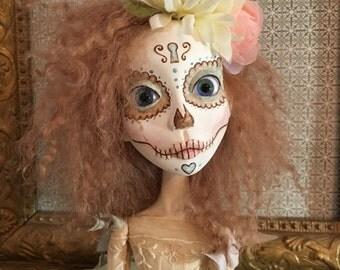 OOAK Art Doll- Day of the Dead doll - Camila